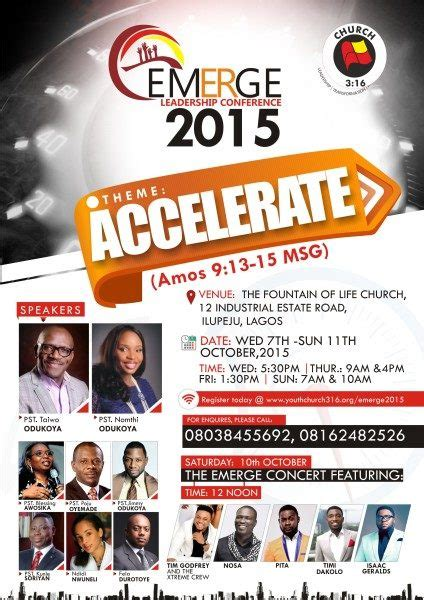 church  presents  emerge leadership conference