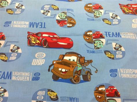 disney cars 2 fabric pixar team lightning mcqueen 95 the