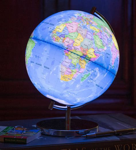 in light globes light up globe of the world by globee notonthehighstreet com