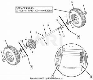 Ariens 920013  123000 -   Compact 22 Parts Diagram For Wheels And Axles