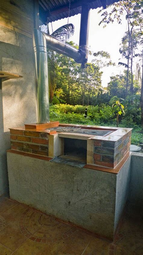 build   diy outdoor wood stoveoven cooker