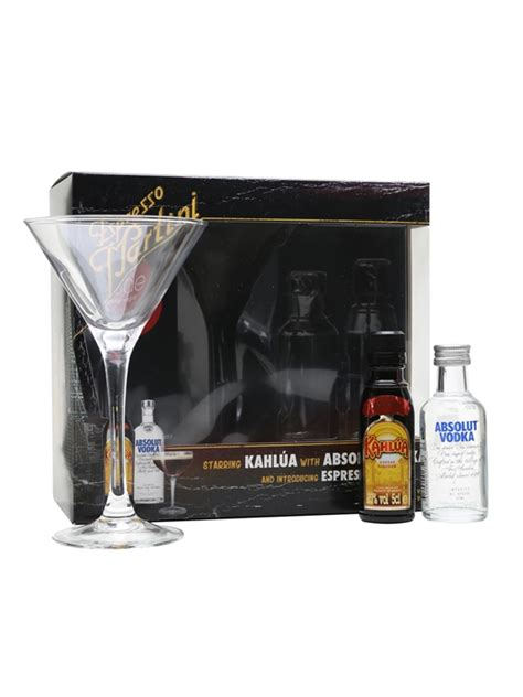 absolut expresso martini gift set  whisky exchange