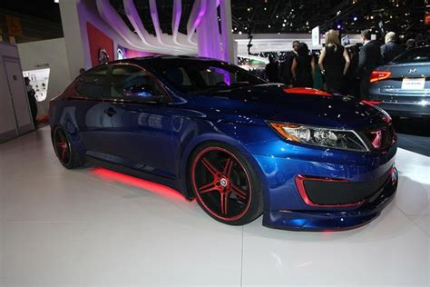 superman themed  kia optima hybrid chicago auto show autotrader