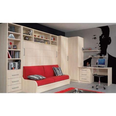 armoire lit escamotable combin 233 bureau au meilleur prix