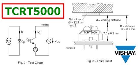 test l circuit tcrt5000 datasheet reflective optical sensor vishay