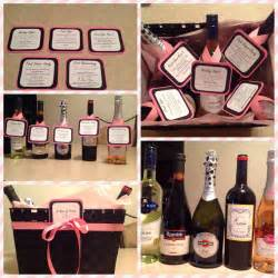 Wine Basket Shower Gift - a year of firsts wine basket for bridal shower gift