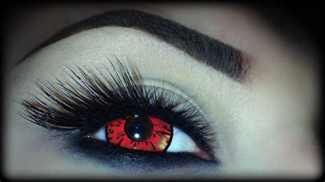 super easy halloween makeup tutorial sexy demon eyes  beginners youtube