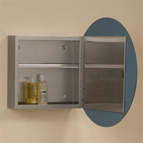 Ellipse Stainless Steel Medicine Cabinet Bathroom