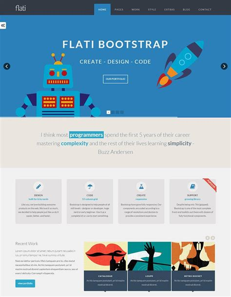 bootstrap design templates themes