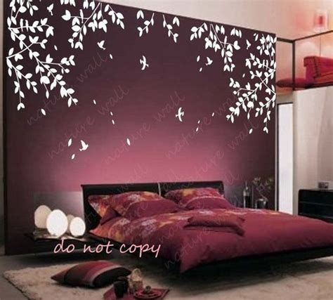 stickers muraux branche mural autocollants b 233 b 233 decal p 233 pini 232 re decal chambre d 233 cor mur