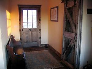 sliding barn door traditional entry grand rapids With barn wood trim ideas