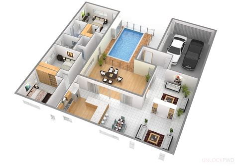 home layout planner cool 3d rectangular house floor plan come with modern
