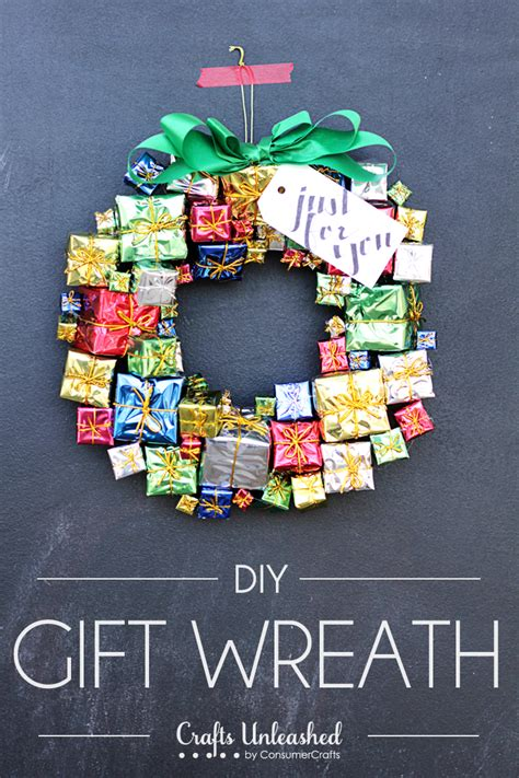 christmas wreath tutorial  fun colorful gift boxes