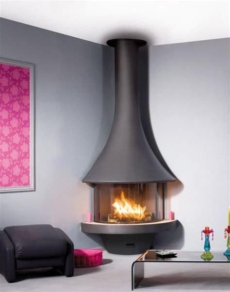 cheminee d angle moderne