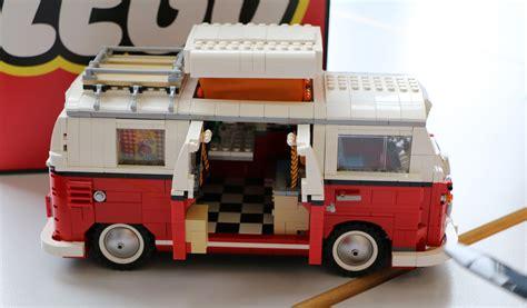 vw bulli lego lego volkswagen t1 quot bulli quot cingbus in steht zum verkauf zusammengebaut
