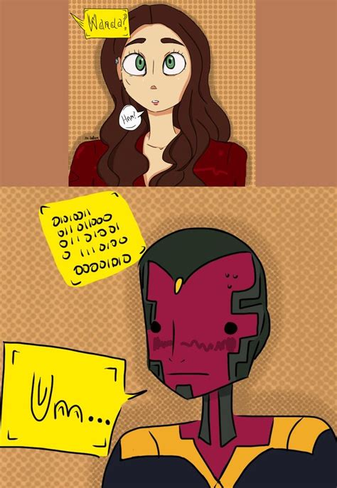 #Wanda #Vizh #ScarletVision #Wision   Marvel superheroes ...