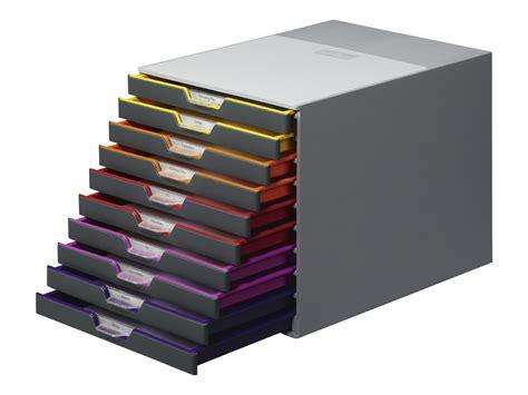 module de classement bureau durable varicolor 10 bloc de classement à tiroirs