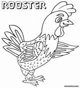 Rooster Coloring Toddlers Coloringway sketch template