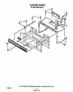 Cabinet Diagram  U0026 Parts List For Model Mh6700xw0 Whirlpool