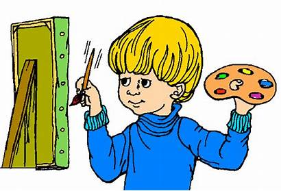 Clipart Painting Clip Cartoon Child Paint Especially