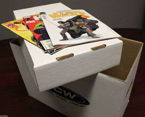 1 + Bcw Short Cardboard Comic Book Storage Box Holds 150