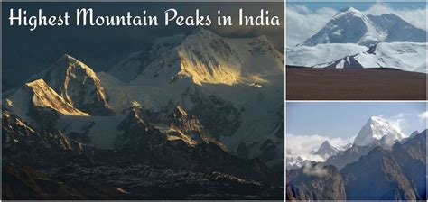 Highest Mountain Peak In India