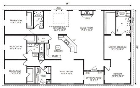 simple 4 bedroom house plans ranch house floor plans 4 bedroom this simple no