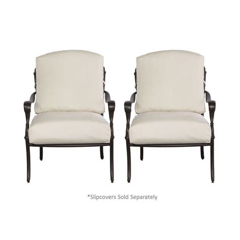 Hton Bay Patio Chair Covers by Hton Bay Edington Cast Back Pair Of Patio Lounge Chairs