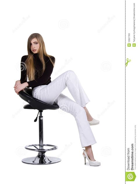 fashion sit on the chair stock photos image 12657763