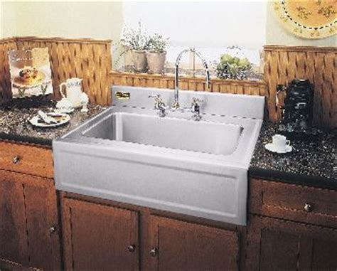 Kitchen Sinks With Backsplash by Elkay 3626egsf Elite Gourmet Single Bowl Farm Apron