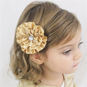 Gold Flower Hair Clip Flower Hair Bow Wedding by