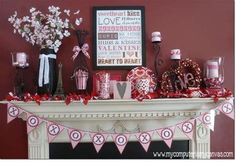 valentines day mantel valentine mantle valentine s day pinterest