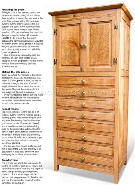 tall cabinet plans woodarchivist