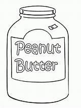 Peanut Coloring Butter Peanuts Printable Template Jar Gang Popular Sketch Getdrawings sketch template