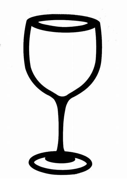 Wine Glass Clipart Clip Glasses Champagne Outline