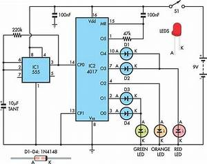 Traffic Lights For Model Cars Or Model Railways Circuit Schematic In 2019