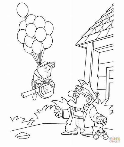 Colorear Dibujos Coloring Balloons Above Sky