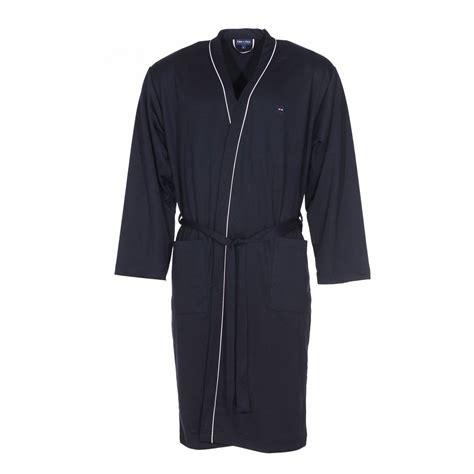 robe de chambre coton robe de chambre park en coton bleu nuit rue des hommes