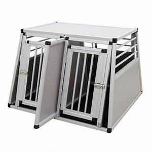 Cage Transport Chien Voiture : cage de transport double en aluminium pour deux chiens caisses de transport morin accessoires ~ Medecine-chirurgie-esthetiques.com Avis de Voitures