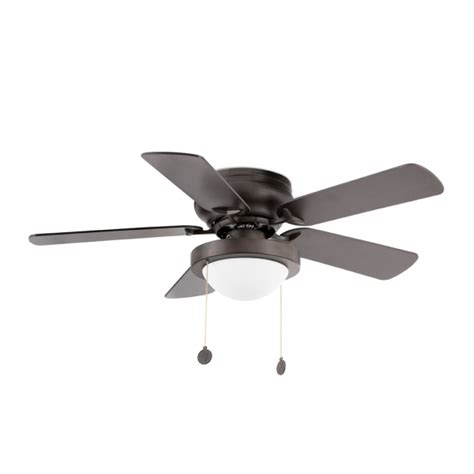 retro ceiling fan in brown with eco bulb 42w