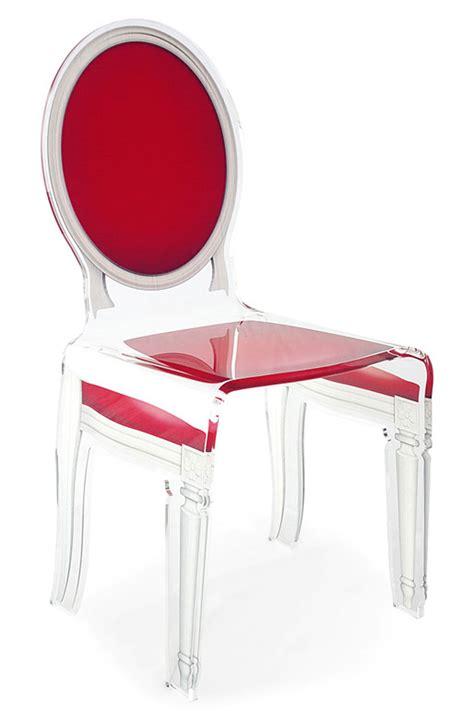 chaise en plexiglas chaise baroque en plexiglas