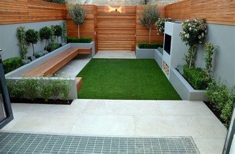 Gartenideen Für Kleine Gärten Minimalistisch Gras