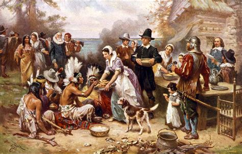 Origination Of Halloween by Thanksgiving And Pilgrim Paintings And Artwork
