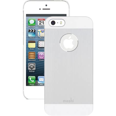 iphone 5 silver moshi iglaze armour for iphone 5 5s se silver 99mo061201 b h