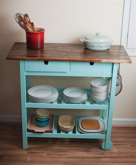 ikea kitchen cart forhoja 19 ikea f 214 rh 214 ja cart storage and display ideas for every home digsdigs