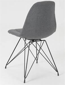 Chaise Design Metal : chaise design m tal et tissu gris clair ~ Teatrodelosmanantiales.com Idées de Décoration