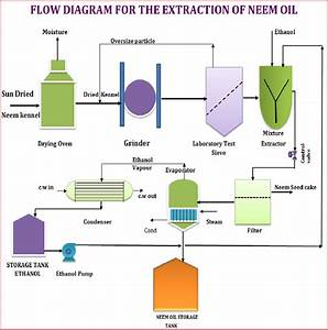 Fig  No  3  Process Flow Diagram Of Neem Oil Extraction From Ethanol