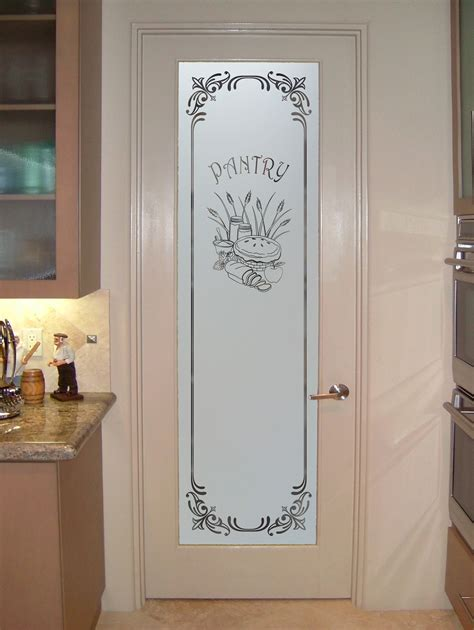 4 Door Kitchen Pantry White White Frosted Glass Interior Doors Kitchen Glass