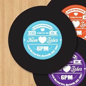 vinyl record label wedding invitation diy set printable With diy record wedding invitations