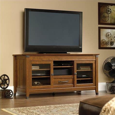 sauder credenza tv stand sauder carsonge washington cherry finish tv stand ebay